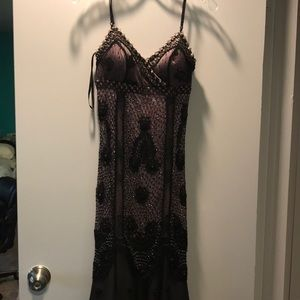 Beautiful beaded purple and black dress